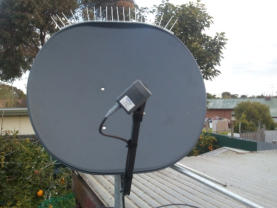 This 85cm offset dish was fitted with anti bird spikes.  The spikes stop birds roosting on the dish and cause bird droppings to cath on the dish face. Bird droppings on the dish can affect signal performance and reduces the life of the dish.